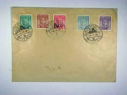 Italy: Comune De Campone, Mi 1 - 5, Used On Cover. - 4. 1944-45 Social Republic