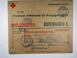 Russia: 1916 Prisoner Of War Letter From Germany Via Denmark To Russia, Russian