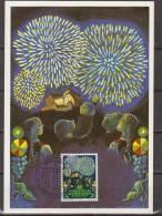 Liechtenstein, 1981, Europe, CEPT, Folklore, Fireworks, Maximum Card - Culture