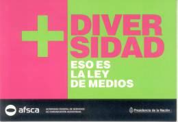 DIVERSIDAD  ESO ES LA LEY DE MEDIOS REPUBLICA ARGENTINA AÑO 2012 - Evenementen