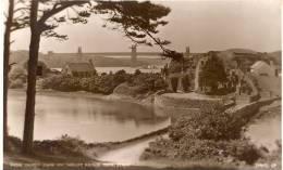 Classy Judges' Real Photo Card No. 4494 Of Church Island & Tubular Bridge, Menai Strait, Wales, 1947 Anglesey Postmark - Anglesey