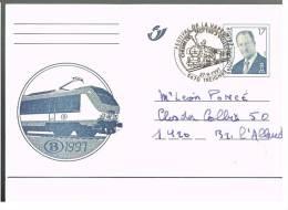 Carte 63 Locomotive De La SNCB, Oblitérée Treignes (sujet Locomotive / Train) - Enteros Postales