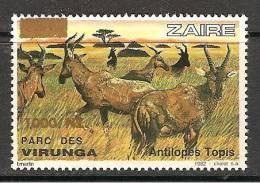 Zaire / Congo Kinshasa / RDC - NON EMIS / UNISSUED - Surcharge 1000NZ Sur COB 1160 - MNH / ** 1994 - Faune - Zaïre