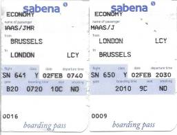 Boarding Pass - Brussels-London City-Brussels - Instapkaart