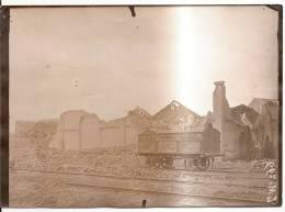 Photo Originale (17x13) Des Ruines De La Grande Guerre, Mines D´Aniche Lavoir De Somain - Photographica