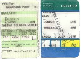 Boarding Pass - Brussels-London LHR-Brussels - Instapkaart