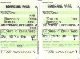 Boarding Pass - Brussels-Berlin Tegel-Brussels - Instapkaart