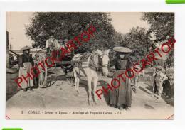 CORSE-Scenes Et Types-Attelage De Paysans Corses-cheval-enfants-ETAT-TB- - Non Classificati