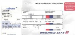 Boarding Pass - Brussels-Oslo FBU-Brussels - Instapkaart