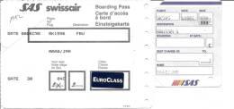 Boarding Pass - Brussels-Oslo FBU-Brussels - SAS - Instapkaart
