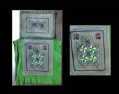 Textile Traditionnel H´mong / Vintage Hmong Textile Baby Carrier - Tapis & Tapisserie