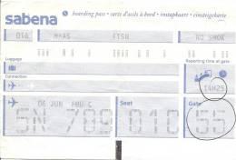 Boarding Pass Brussels - Oslo FBU - Brussels - Instapkaart