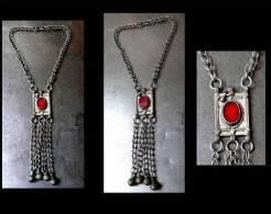 Ancien Collier Yéménite Argent /  Old Bedouin Silver Necklace From Yemen - Art Oriental
