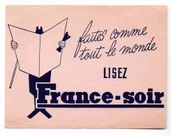 Buvard - France Soir - Buvards, Protège-cahiers Illustrés