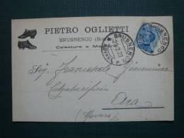 Cartolina Commerciale Calzature E Maglierie Oglietti Di Brusnengo Biellese - Biella