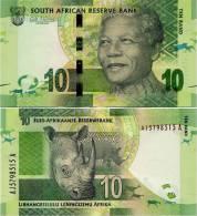 SOUTH AFRICA       10 Rand       P-New       ND (2012)       UNC - Afrique Du Sud