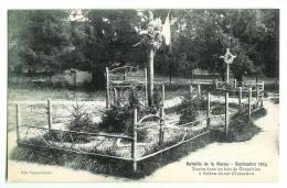 Bataille De La Marne - Tombe Dans Les Bois De Chapelaine - Francia