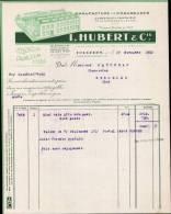 I.HUBERT & Cie, MANUFACTURE DE CHAUSSURES A FOUGERES  /  FACTURE DATEE 1950 - France