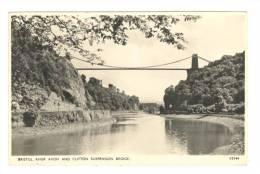 G1444 Bristol - Clifton Suspence Bridge - River Avon - Old Mini Card / Non Viaggiata - Bristol