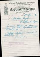 J.JUGUIN & FILS, VINS & SPIRITUEUX A SAINT SERVAN SUR MER  /  FACTURE DATEE 1937 - France
