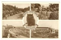 G1447 Good Luck From Ramsgate - Westcliff Cline - Waterfall - St. Lawrence Bandstand - Old Mini Card / Non Viaggiata - Ramsgate