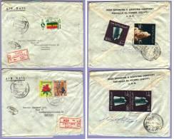 Airmail Regist 2 Letters Ägypten Alexandrie 1970 (511) - Briefe U. Dokumente