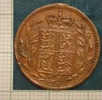 M_p> Medaglia Inglese Con Appiccagnolo Rimosso - Monarchia/ Nobiltà