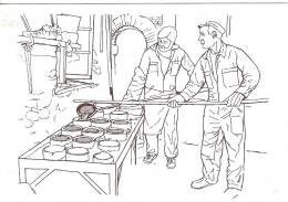 """81 TARN DURFORT La Fabrication Traditionnelle D´un Chaudron à """"La Claverie"""", Le Coulage Des Pastelles  7 - Dourgne"""