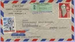 Airmail Registered Letter Ecuador To Vienna Wien (519) - Equateur