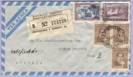 Airmail Registered Certificado Letter Buenos Aires To Vienna 1957 (520) - Argentinien