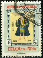 INDIA PORTOGHESE, PORTUGUESE INDIA, PORTUGUESE COLONY, 1956, FRANCOBOLLO USATO, Scott 536 - Inde Portugaise