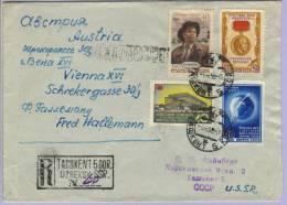 Registered Letter Taschkent Udssr To Vienna 1958 (523) - Indien