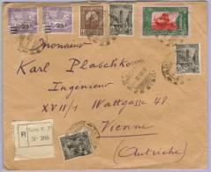 Registered Letter Tunis To Vienna 1932 (524) - Tunesien (1956-...)
