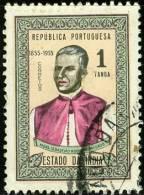 INDIA PORTOGHESE, PORTUGUESE INDIA, PORTUGUESE COLONY, 1955, FRANCOBOLLO USATO, Scott 440 - Inde Portugaise