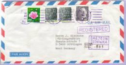 Airmail Registered Letter Daejeon Korea To Göttingen 1985 (528) - Korea (Süd-)