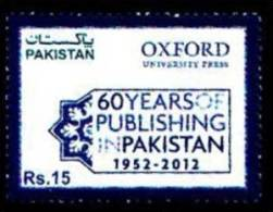 PAKISTAN MNH 2012 60 YEARS PUBLISHING OXFORD UNIVERSITY PRESS 1952 EDUCATION BOOK SCHOOL - Pakistan