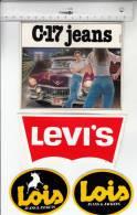 4 Autocollants / Adesivi / Aufkleber / Stickers - C°17 Jeans - Lewis - Lois Jeans & Jackets - Adesivi