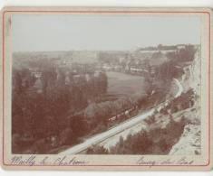 PHOTO 89 MAILLY LE CHATEAU La Route De Bourg Du Bas Période Fin XIX° Format 12.5 X 9.5 Cms Rare - Places