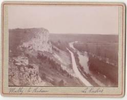PHOTO 89 MAILLY LE CHATEAU La Route Prise Des Roches Période Fin XIX° Format 12.5 X 9.5 Cms Rare - Places