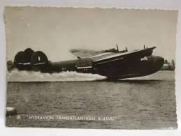 CPSM  18 HYDRAVION TRANSATLANTIQUE BOEING - Flugwesen