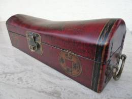 China-Truhe Aus Holz Und Leder ( Chest ), China-Chest, Wood & Leather From Thailand ! - Asiatische Kunst