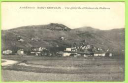 AMBÉRIEU-SAINT-GERMAIN:   Vue Générale Et Ruines Du Château.   1911   . - Autres Communes