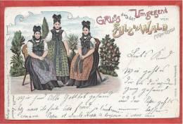 67 - GRUSS Aus SULZ UNTERM WALD - SOULTZ SOUS FORETS - Litho Couleur Folklore - Francia