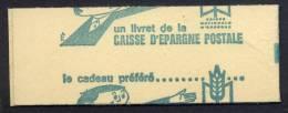 FRANCE CARNET N°1536-C2 0,30C TYPE CHEFFER VARIETE: DECOUPE A CHEVAL DES TIMBRES ET DE LA COUVERTURE - Carnets