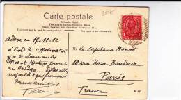 ADEN - 1912 - RARE CARTE POSTALE Avec CACHET De PAQUEBOT Pour PARIS - Aden (1854-1963)