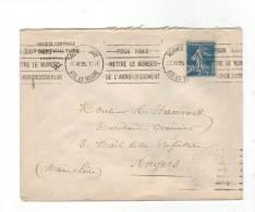 Flamme KRAG à Texte Propagande: « Pour Paris……. » Sur Lettre De 1925 De Rennes Gare - Maschinenstempel (Werbestempel)
