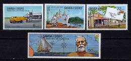 S    Samoa ** N° 341 à 344 - Centenaire De L'U.P.U. - Samoa