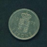 DENMARK  -  1976  1 Krone  Circulated As Scan - Denmark