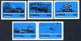 Tonga 1981 Capture Of Port Au Prince Self Adhesive Set Of 5, MNH - Tonga (1970-...)
