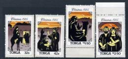 Tonga 1985 Christmas Self Adhesive Set Of 4, MNH - Tonga (1970-...)